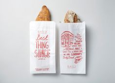 With the right printer, I think a bag like this could actually be done at home. Not sure it's the best option for on shelf - more appropriate for a bakery style setup