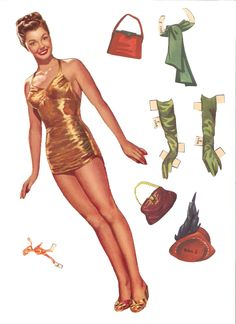 ESTHER WILLIAMS  Esther Jane Williams (August 8, 1921 – June 6, 2013) was an American competitive swimmer and actress. Date: 1950 Publisher: Whitman Artist: Victor Kallin  2 of 13