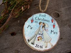 Wedding Couple Ornament Our First Christmas by ForesteDiOro