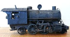 "A Very Rare Real miniature Cast iron and Tin Steam Locomotive Pre-1900 (1860-1899). This is every bit a real train over 20 1/2"" inches long. This is a way cool collectors or Museum piece. Lots of detail and history here....."