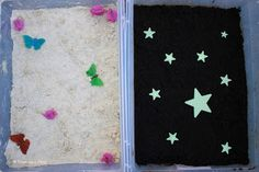 Sensory Bins to Teach Night and Day - messy hands on learning