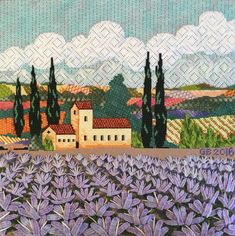 "Sandra Gilmore ""Lavendre"" needlepoint. Stitch guide by Tony Minieri. Stitched by Ginger Brennecke."
