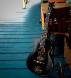 Stella Acoustic Guitar with decal art