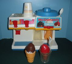 Fisher Price McDonald's Soda Fountain My sister and I had hours of fun with this toy! Jess LOOK!