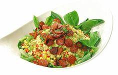 Chorizo-couscous salaatti