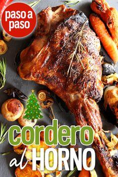 Pierna de Cordero al Horno - Fırın yemekleri - Las recetas más prácticas y fáciles I Foods, Lamb, Oven, Pork, Turkey, Meat, Gourmet, Oven Roast Beef, Tart