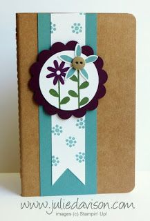 Mini Grid Journal with Flower Patch stamp set & Flower Fair Framelits #stampinup www.juliedavison.com