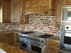 brick backsplash I had this in Mississippi, hope the new builder will do it in the new house!