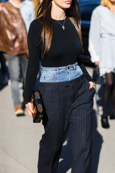 Most Popular PFW Street Style Look: Margiela's Double Pants