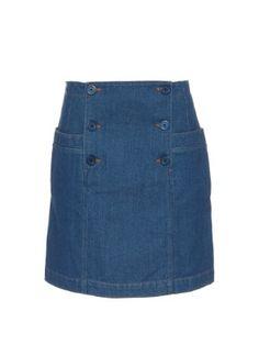 Button-front denim skirt | A.P.C. | MATCHESFASHION.COM