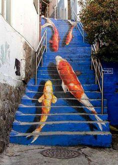 escalier poissonneux!