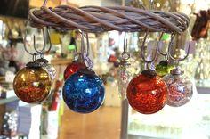 Palle Natalizie in vetro con effetto cra clè. http://www.alberti-import-export.com/indice-decnata.asp