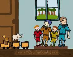 Brotherhood Canvas Art