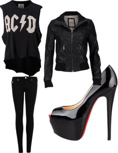 """rock chick"" by karen-kaz-goss on Polyvore"