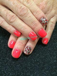 Neon & animal print, Summer nails 2014