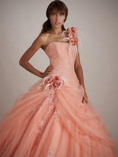Robe de mariée corail