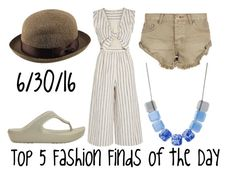 """""""Top 5 Fashion Finds of the Day"""" by maggie-johnston ❤ liked on Polyvore featuring Uniqlo, Crocs, Madewell, One Teaspoon and Kenneth Cole"""