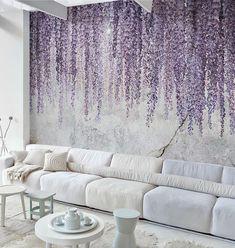 Unique Wallpaper, Textured Wallpaper, Wall Wallpaper, Bedroom Wallpaper, Wallpaper Ideas, Watercolor Wallpaper, Temporary Wallpaper, Home Design, Wall Design
