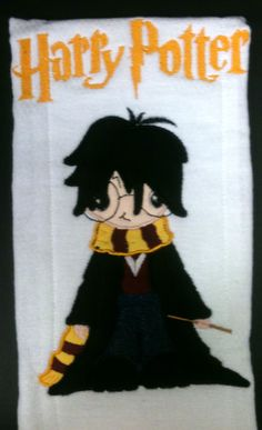 """""""Harry"""" Harry Potter Themed Boutique Burp Cloth by Just Being Frilly"""