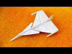 How to make an JAS 39 Gripen Jet Fighter Paper Plane (Tadashi Mori) - YouTube