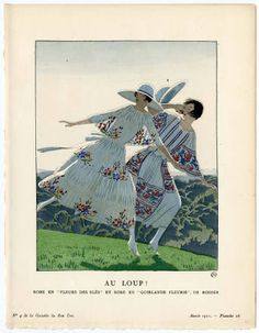 1921 - Rodier dresses in la Gazette du Bon Ton