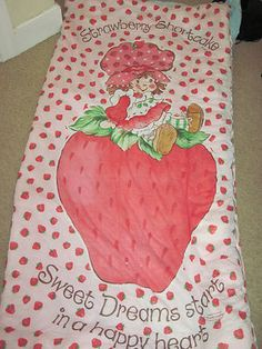 Vintage Strawberry Shortcake Sleeping Bag.  I had this, it went to many slumber parties with me!