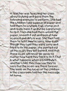 A powerful way to teach bullying- would especially work with middle-older elementary kids?