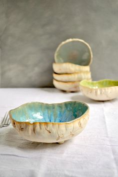 Urban Rustic hand built ceramic bowls from Lee Wolfe Pottery