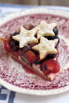 Strawberry and Blueberry Cream Cheese Pie - Sass & Veracity — Sass & Veracity