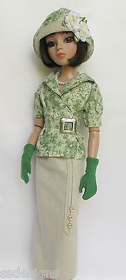 OOAK Lady Amber's Summer Suitable 1920s for Ellowyne Made by Ssdesigns | via eBay SOLD 5/26/13  $539.99