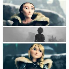 They both look at Hiccup the same way after he fires the flaming arrow. Such a sad scene.