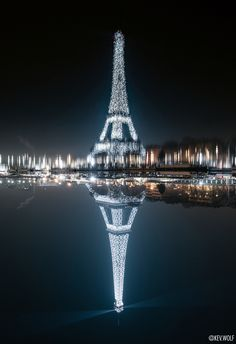 Flipped this photo of the Eiffel Tower because the water in the reflection looked like an oil painting - Instagram @kev.wolf