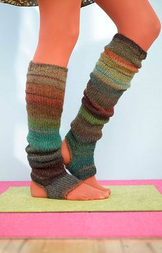 Stirrup socks - free pattern on Ravelry (and Lion Brand site) - have to join either site to get access