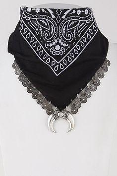 bandana charm necklace face mask