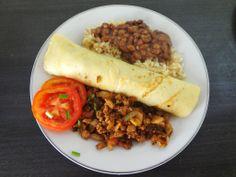 Brazilian Pancakes (Panqueca com Carne Moida) - from www.waterandchocolate.com