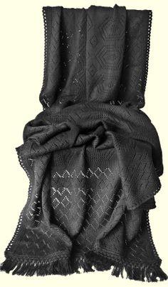Jet Black woolen stole Material: Soft Wool Code: ST-004 Price: Rs. 999/- Shop at https://www.facebook.com/KuckoosNest
