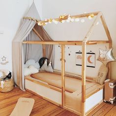 Olli Ella See-ya Suitcase in this whimsical kids bedroom Big Girl Bedrooms, Little Girl Rooms, Toddler Rooms, Toddler Bed, Infant Bed, Baby Bedroom, Girls Bedroom, Baby Zimmer Ikea, Boy Room