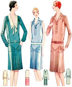 #Z5816 - 1920s Ladies Day Dress With Pleats Sewing Pattern - Gatsby - Theater