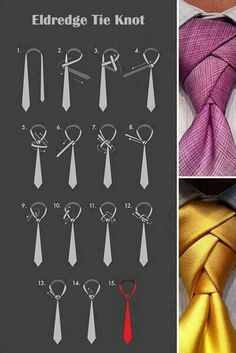 How to tie an eldredge necktie knot necktie knots exotic and might be helpful one day ccuart Images