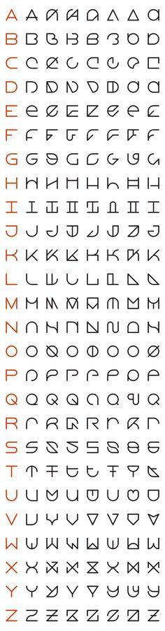An Interview with Rolando G. Alcantara, Typographic Innovator like the second column font alphabet Letras Cool, Schrift Design, Alphabet Code, Alphabet Letters, Letter Art, Logo Design, Graphic Design, Type Design, Nail Design