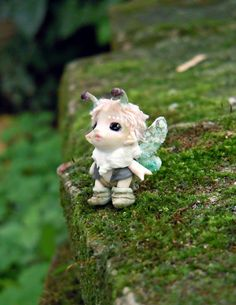 Tiny fairy  OOAK bug pixie by MijbilCreatures on Etsy, $54.00
