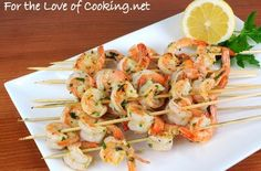 Garlic and Herb Shrimp Skewers Recipes