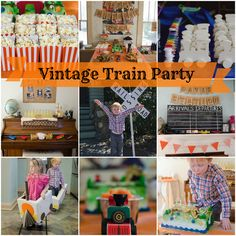 Vintage Train Party - one of THE most amazing kids birthday parties I've ever seen. My friend Suzanne did a fantastic job.