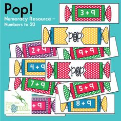 Pop! Center / Small Group Game for Addition product from From-the-Pond on TeachersNotebook.com
