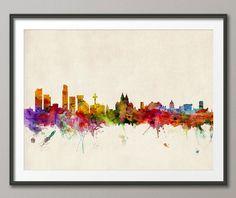 Liverpool England Skyline Art Print 539 by artPause on Etsy, £12.99