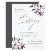Harvest Blush   Watercolor Wedding Invitation