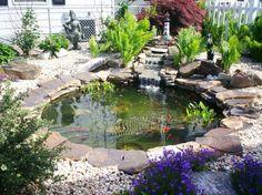 Gartenteich Bilder kreative Gartenideen Innenfof Teich rund