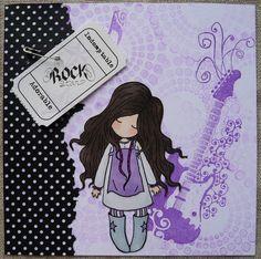 Carte rock tampon Gorjuss Girl
