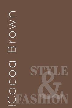 Brown Fashion, Pantone, Rust, Diva, Coral, Chocolate Truffles, Mocha, Colors, Mousse