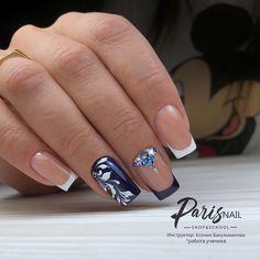 faded french nails New Years Nail Tip Designs, Acrylic Nail Designs, Acrylic Nails, Classy Nails, Stylish Nails, Gorgeous Nails, Pretty Nails, Wedding Nails, Bridal Nails